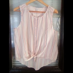 Lucky Brand Sleeveless Button up NWT Large